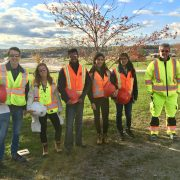 employee site visit with Mac students